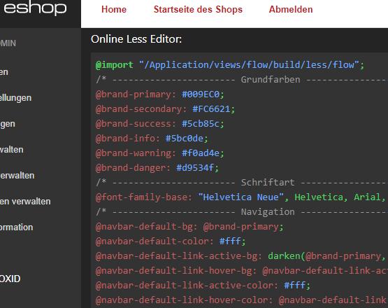 LessPHP 4 OXID